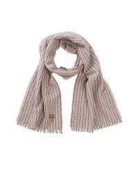 Frye - Brown Herringbone Stripe Wool & Cashmere Blend Scarf - Lyst