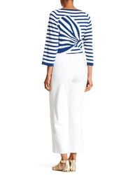 Joan Vass - White Stretch Knit Ankle Pants - Lyst