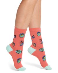 Paul Smith - Multicolor Eloise Kyoto Crew Socks - Lyst