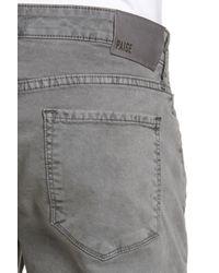 PAIGE - Gray Lennox Slim Fit Five-pocket Pants for Men - Lyst