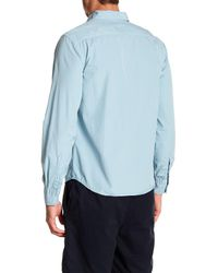 Save Khaki - Blue Poplin Work Classic Fit Shirt for Men - Lyst