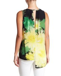 Tracy Reese - Green Sheer Silk Hi-lo Blouse - Lyst