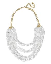 BaubleBar - Metallic Laree Lucite Necklace - Lyst
