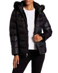 Andrew Marc - Black Avery Genuine Rabbit & Fox Fur Quilted Jacket - Lyst
