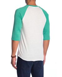 Alternative Apparel - Green Raglan Sleeve Baseball Tee for Men - Lyst