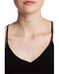 Argento Vivo - Metallic Sterling Silver 'r' Initial Heart Choker Necklace - Lyst