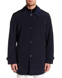 Kenneth Cole - Blue Bonded Poly Raincoat for Men - Lyst