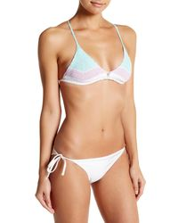 Vitamin A - White Nightbird Crochet Knit Tie Triangle Bikini Top - Lyst