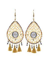 Mishky - Metallic Fili Tassel Drop Earrings - Lyst