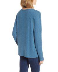 Caslon - Blue Caslon Cozy Knit Long Sleeve Tee - Lyst