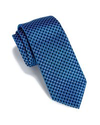 Perry Ellis - Black Helton Mini Check Tie for Men - Lyst