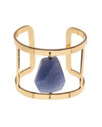 Carolee | Blue 12k Gold Stone Cutout Cuff | Lyst