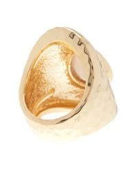 Ariella Collection - White Teardrop Stone Ring - Lyst