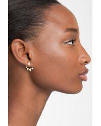 Nadri - Metallic Ear Jacket - Lyst