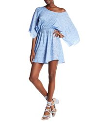 Tiare Hawaii - Blue Wave Print Mini Dress - Lyst