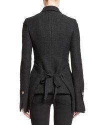 Proenza Schouler - Black Asymmetrical Tweed Jacket - Lyst
