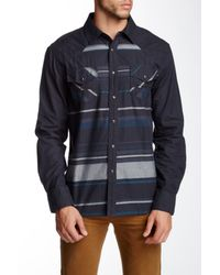 Indigo Star - Blue Contrast Stripe Woven Tailored Fit Shirt for Men - Lyst