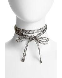 Chan Luu - Multicolor Chiffon Tie Necklace - Lyst