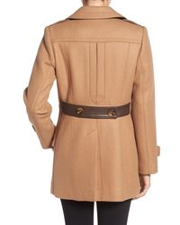Trina Turk - Natural 'Chloe' Wool-Blend Peacoat - Lyst