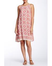 Max Studio - Pink Halter Printed A-line Shift Dress - Lyst