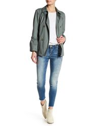 Democracy - Blue Embroidered Skinny Jeans - Lyst