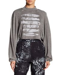 Religion - Gray Fresco Crop Top - Lyst