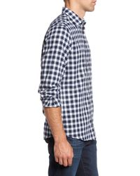 RODD AND GUNN - Blue Curtis Island Sports Fit Check Sport Shirt for Men - Lyst
