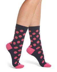 Paul Smith - Pink Faye Shadow Spot Crew Socks - Lyst