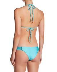 Luli Fama | Blue Seamless Crochet Lace Brazilian Bottom | Lyst