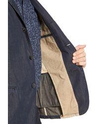 John Varvatos - Blue Extra Trim Fit Four-button Convertible Jacket for Men - Lyst