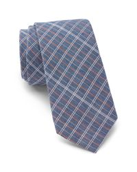 Ben Sherman - Blue Inez Plaid Tie for Men - Lyst