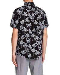Sovereign Code - Black Warm Springs Short Sleeve Palm Tree Print Trim Fit Shirt for Men - Lyst
