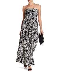 f0c082b804f Lyst - West Kei Strapless Print Maxi Dress in Black