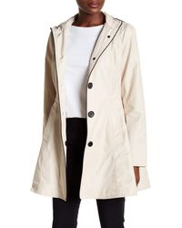Laundry by Shelli Segal - Natural Hooded Bow Back Trench Coat - Lyst