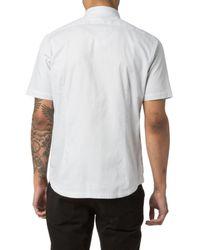 Good Man Brand - Gray Textured Sport Shirt for Men - Lyst
