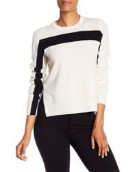 Equipment - White Shirley Cashmere Stripe Knit Sweater - Lyst