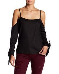 Lucca Couture - Black Camilla Cold Shoulder Blouse - Lyst