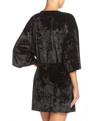 Chelsea28 - Black Crushed Velvet Robe - Lyst