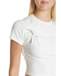 T By Alexander Wang - White Twist Compact Jersey Tee - Lyst