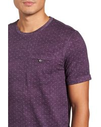 Ted Baker - Purple Giovani Modern Slim Fit Print Tee for Men - Lyst