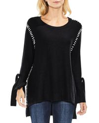 Two By Vince Camuto - Black Tie Sleeve Sweater - Lyst