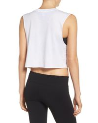 Private Party - White This Is My Workout Shirt Tank - Lyst