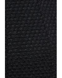 Gallery - Black Waffle Woven Coat - Lyst