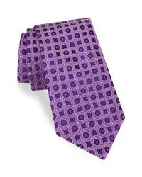 Ted Baker | Purple Geometric Silk Tie for Men | Lyst