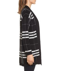 Chaus - Black Plaid Cotton Cardigan - Lyst