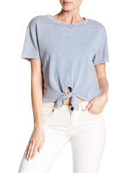 Love, Fire - Blue Knot Front Short Sleeve Shirt - Lyst