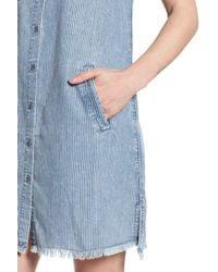 BILLY T - Blue Ticking Stripe Dress - Lyst