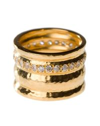 Melinda Maria - Metallic Cigar Band Ring - Size 5 - Lyst