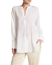 Vince - White Shirred Back Tunic - Lyst