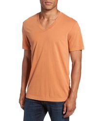 James Perse - Orange Short Sleeve V-neck T-shirt for Men - Lyst